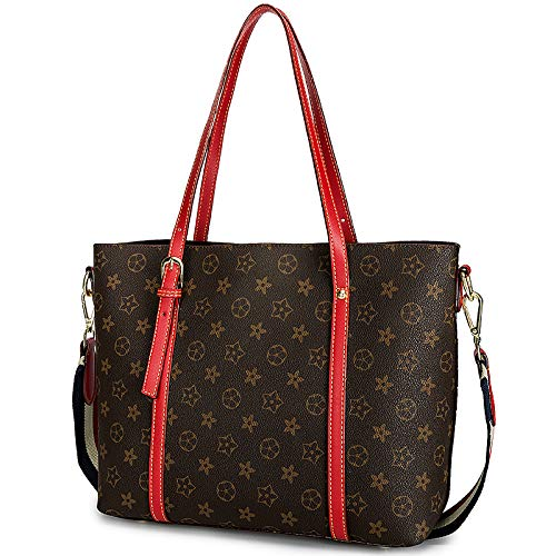 five Wenlong Shoulder Women's Leaf Handbags Casual Flowers With Capacity Bag Bag Bags Red Large Single Printing Entertainment 7x07BXrqw1