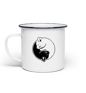 Chorchester El Yin y el Yang de los Gatos - Taza: Amazon.es: Ropa y accesorios
