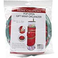 Innovative Home Creations Pop-Open Christmas Gift Wrap Organizer, 39.3 by 9.8-Inch