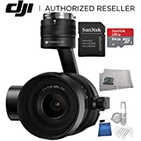 DJI Zenmuse X5S Camera and Gimbal with MFT 15mm f/1.7 ASPH Prime Lens for DJI Inspire 2 Quadcopter Drone Starters Bundle Includes SanDisk 64 GB microSDXC + 5PC Cleaning Kit + MORE
