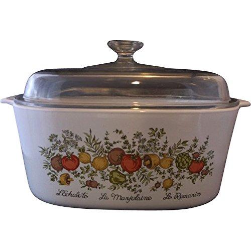Vintage Corning Ware SPICE O' LIFE Large 5 Quart Covered Casserole w/Lid Vintage Corningware Spice