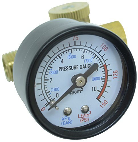 K-T Industries 6-5492, In-Line Air Flow Regulator with Gauge