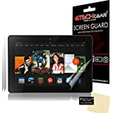 "[2 Pack] TECHGEAR® Amazon Kindle Fire HDX 7"" 7.0 inch CLEAR LCD Screen Protectors With Cleaning Cloth + Application Card (3rd Generation tablet)"