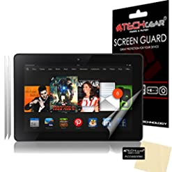 TECHGEAR [Pack of 2] Anti Glare Screen Protectors for Amazon Kindle Fire HDX 7″ 7.0 inch 2013 – Matte Lcd Screen Protectors With Cleaning Cloth + Application Card (3rd Generation tablet)