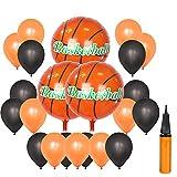 UTOPP 18' Basketball Balloons Sports Party Balloons Kit Basketball Ball Goal Party Supplies with Balloon Inflator