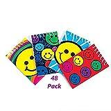 4 Dozen (48) SMILEY FACE Mini Spiral NOTEBOOKS SMILE Emoticon Emoji Party FAVORS Classroom TEACHER Rewards