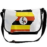Uganda Flag Map Black Unisex Body Shoulder Gadget Bag Messenger Baghandbag20cm×30cm ×16cm