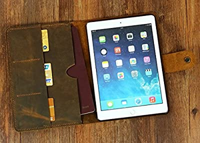 Personalized distressed leather iPad pro case cover / iPad mini case / iPad air case cover / leather iPad portfolio IPD05NC