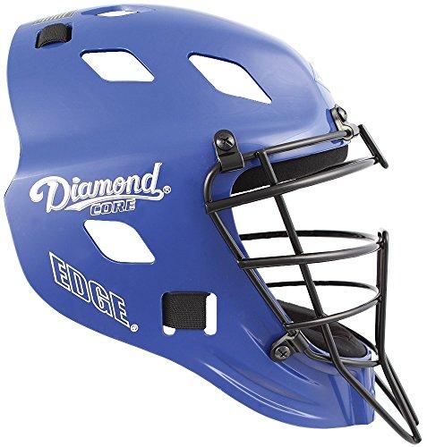 Diamond DCH-EDGE CX SM Edge Hockey Style Cather's Helmet Small Royal by Diamond Sports