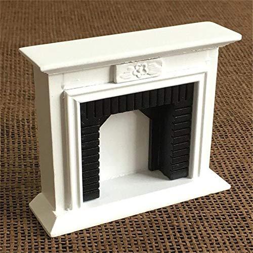 Brosco 1:12 Dollhouse Miniature Furniture Room Wooden Vintage Black White Fireplace - from Brosco