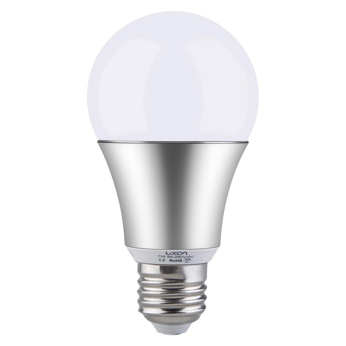 LUXON Motion Sensor Light Bulb 7W Smart Bulb Radar Dusk to Dawn LED Motion Sensor Light Bulbs E26 Base Indoor Sensor Night Lights Soft White 2700K Outdoor Motion Sensor Bulb Auto On/Off