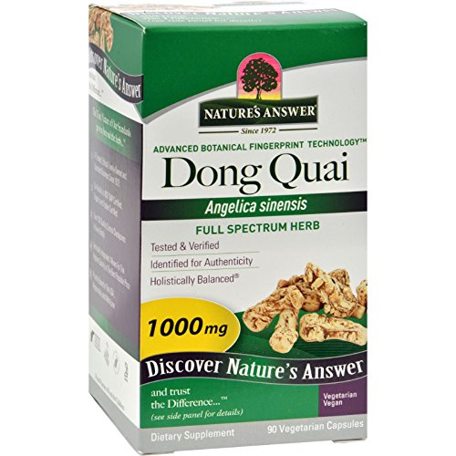 Natures Answer 1000 Mg Dong Quai Root - 90 vegetarian capsules per pack -- 1 each.
