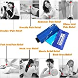 Ohuhu 2-Pack Gel Ice Packs & Wrap Flexible Hot Cold Ice Pack Pain Relief Hot Cold Therapy For Knee