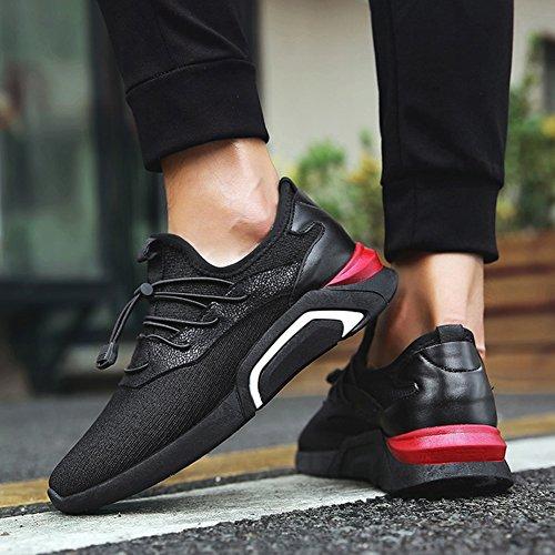 Ocio Calzado CN44 EU43 Hombre Transpirable Negro Juventud Color Moda Deporte Negro Zapato Tamaño YIXINY Lienzo UK9 De ntwZ1A0Cqx