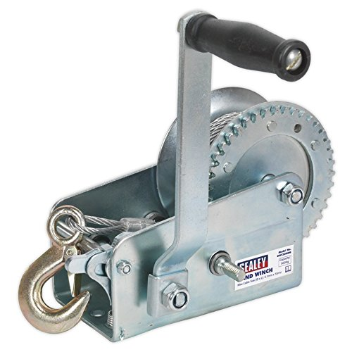 (Sealey GWC2000M 900 kg Capacity Geared Hand Winch with Cable by Sealey)