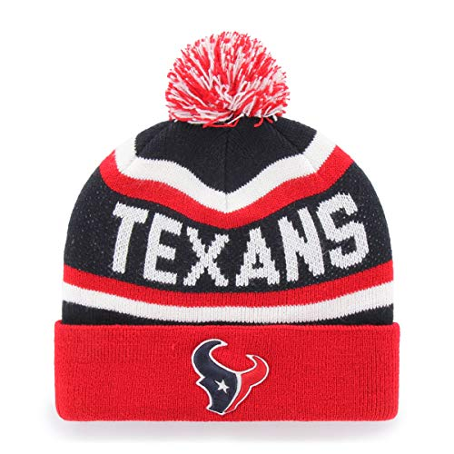 NFL Houston Texans Jasper OTS Cuff Knit Cap with Pom, Navy, One - Texans Houston Hat