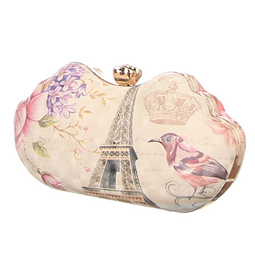 Ital-DesignClutch-tasche Bei Ital-design - Bolso de botón Mujer Creme Multi