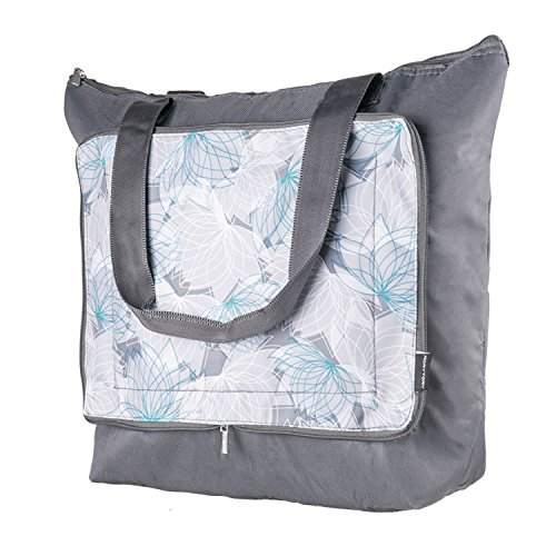 Insulated Grocery Bag - Large Foldable Shopping Tote Cooler Bag for Hot or Cold Food Transport Delivery Drivers, Compact Outdoor Camping & Picnics ()