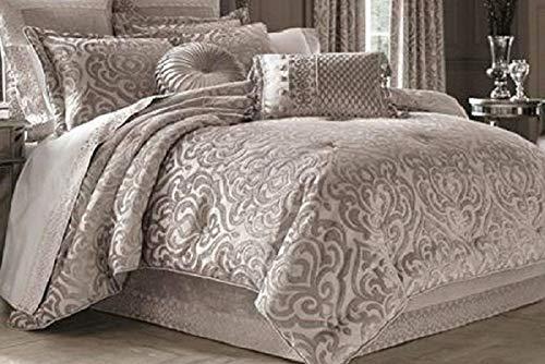 Regency Comforter - J. Queen New York Sicily Pearl Queen 4 Piece Comforter Set - Chenille Damask