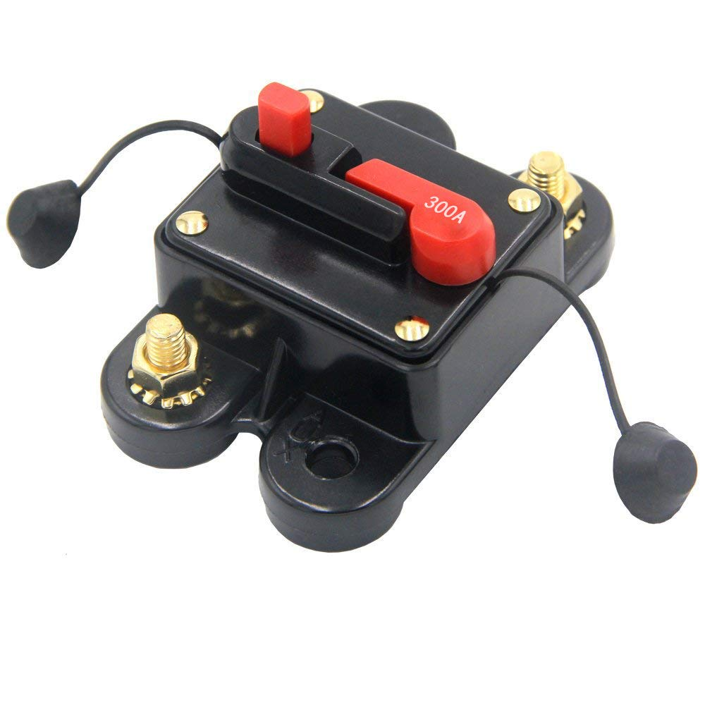 250A 250Amp Circuit Breaker Trolling Motor Auto Car Marine Boat Bike Stereo Audio Inline Fuse Inverter with Waterproof Cover