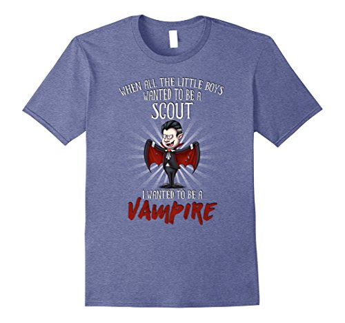 Mens Halloween Party Vampire Costume for Scout 2XL Heather Blue