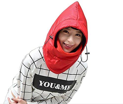 Elandy 1PCS 2 in 1 Waterproof Winter Outdoor Cold Gear Hoodie Hat Fleece Headwear with Full Face Mask-Windproof Face Cover Cap Riding Hat Helmet Ear Flap Chin Strap for Outdoor Sports - Womens Snowboard Deck