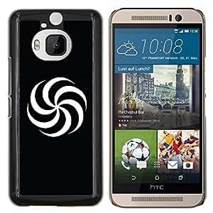 YiPhone /// Prima de resorte delgada de la cubierta del caso de Shell Armor - Espiral Blanco y Negro - HTC One M9Plus M9+ M9 Plus