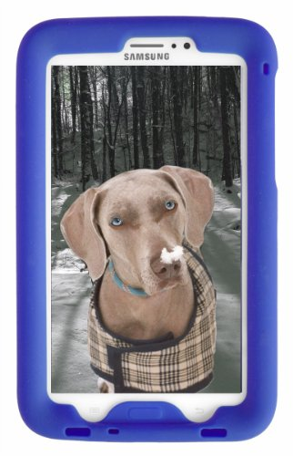 Bobj Rugged Case for Samsung Galaxy Tab PRO 8.4 inch Tablet, SM-T320, SM-T321, SM-T325 (Not for Tab3 8 inch) - BobjGear Custom Fit - Sound Amplification - Kid Friendly (Batfish Blue) (Best Galaxy Tab Pro 8.4 Case)