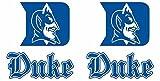 Duke Blue Devils Cornhole Decals Large 4 piece set Indoor/Outdoor