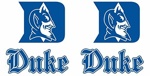 Duke Blue Devils Cornhole Decals Large 4 piece set Indoor/Outdoor