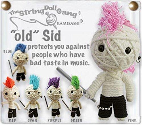 Kamibashi Vintage Sid Rocker Boy Original String Doll Gang Keychain Toy
