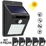 Luminária Solar Parede 30 Leds Sensor Movimento Kit 5 Peças CBRN08933