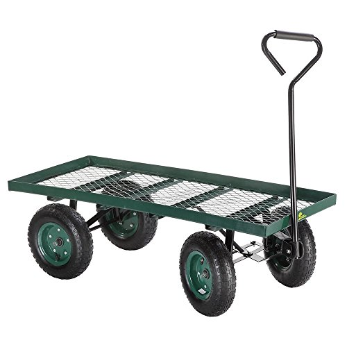 Palm Springs Heavy Duty Flatbed Garden Cart /Utility Wagon - 400lbs Max Capacity by Palm Springs