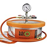 BACOENG 1 Gallon Flat Stainless Steel Vacuum Chamber Silicone Kit