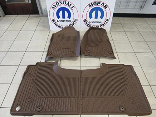Mopar 2019 DODGE RAM All Weather Slush Mats BROWN Crew Cab Rubber Mats NEW OEM