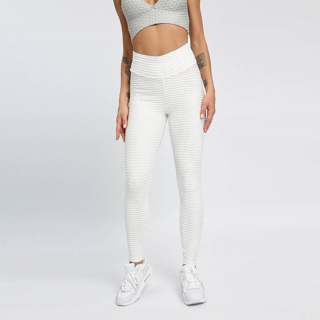 Womens Running High Waist Yoga Pants Slim Fit Booty Leggings Gym Lift Tights
