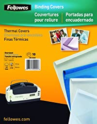 Fellowes Thermal Binding Presentation Covers, Letter, 1/4 Inch, 60 Sheets, White, 10 Pack (52222)