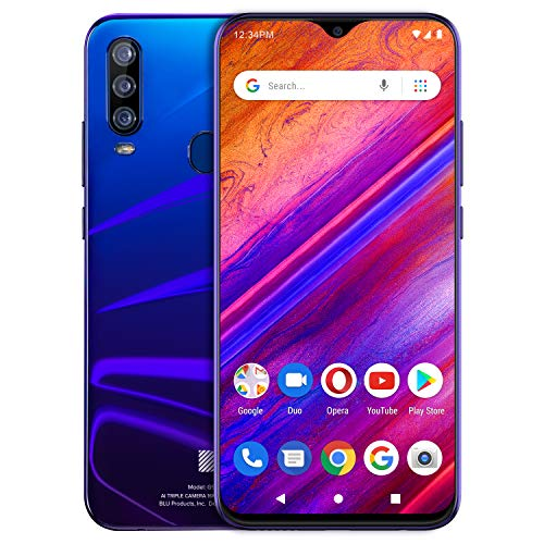 [해외]BLU G9 Pro -6.3\u201d Full HD Smartphone with Triple Main Camera 128GB+4GB Ram -Nightfall / BLU G9 Pro -6.3 Full HD Smartphone with Triple Main Camera, 128GB+4GB Ram -Nightfall