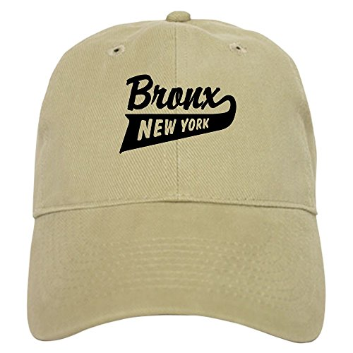 CafePress Bronx New York Baseball Cap with Adjustable Closure, Unique Printed Baseball Hat Khaki