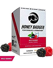 Honey Badger Natural Post Workout (Performance Hydration, Caffeine Free, Alpha-GPC, AlphaSize, Beets, Electrolytes, Recovery, Vegan, Sucralose Free, Naturally Flavored & Sweetened, No Dyes)