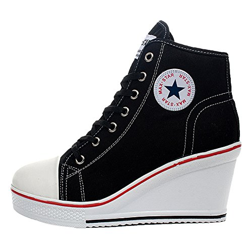 Kivors Donna UK Nero Sneaker Black 3 qqwz1vrS
