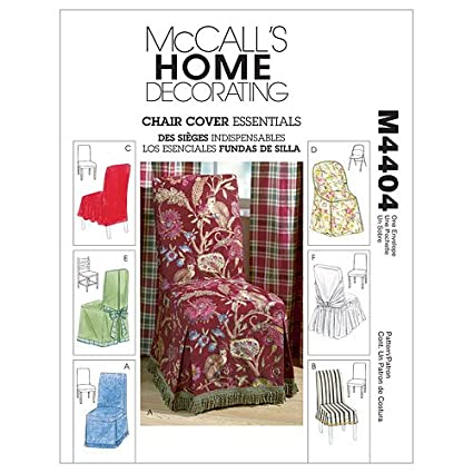 Amazon Com Mccall S Patterns M4404 Chair Cover Essentials One Size