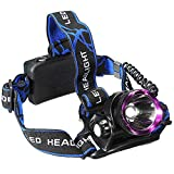 5000LM CREE XM-L XML T6 LED 3-Modes Design Headlamp Headlight Outdoor Sport Head Lamp 18650 Rechargeable Battery Head LED Light Torch waterproof