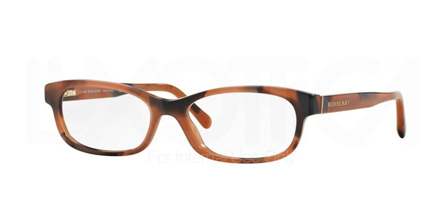 dcb2854e22a BURBERRY BE 2202 Eyeglasses 3518 Spotted Amber 54-16-140  Amazon.co.uk   Clothing