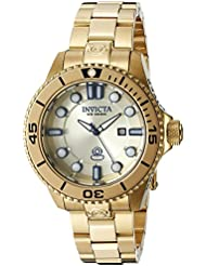 Invicta Womens 19820 Pro Diver Analog Display Swiss Quartz Gold Watch