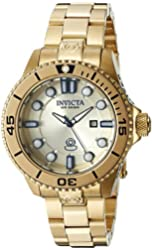 Invicta Women's 19820 Pro Diver Analog Display Swiss Quartz Gold Watch