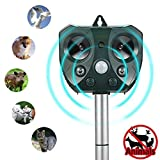 Momen Animal Pest Repellent Outdoor, Ultrasonic Solar Powered Pest Repeller, Effective Control Deer, Bird, Rabbit, Rodent, Squirrel, Cat, Bat, Snake, Racoon Non Toxic Natural Repellent
