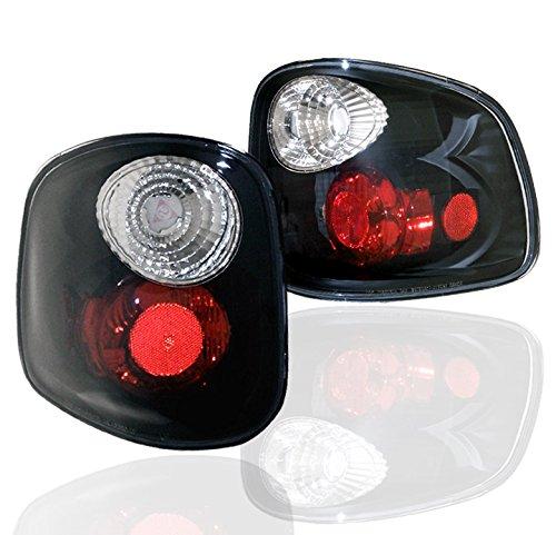 (ZMAUTOPARTS Tail Brake Lights Rear Lamps Black For 1997-2003 Ford F-150 Flareside/Stepside)