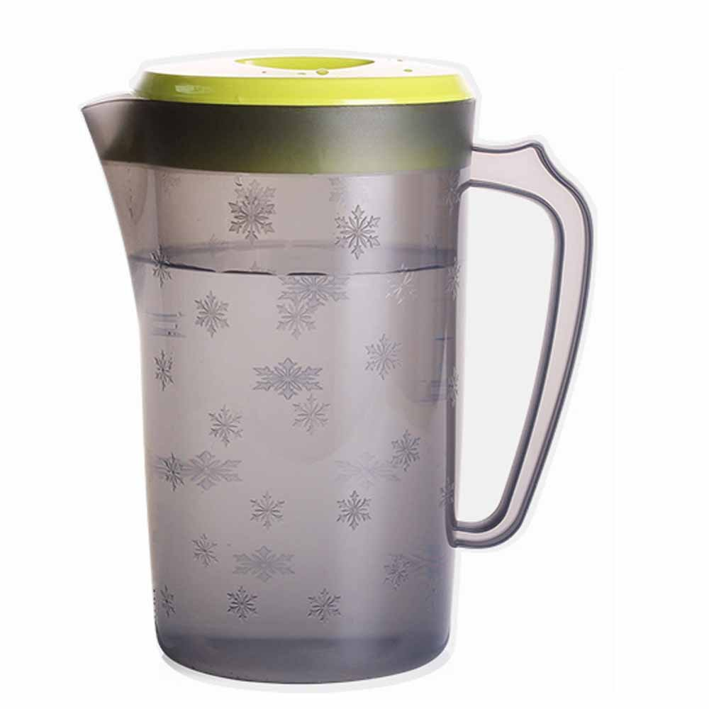 UPSTYLE Food-Grade Plastic Covered Pitcher with Lid Water Bottle Container Juice Jug Great for Cold Water, Ice Tea, Juice, Fruit and Beverages(2200ml/75oz/0.58Gallon/2Quart Green)