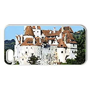 romania bran castle dracula castle - Case Cover for iPhone 5 and 5S (Medieval Series, Watercolor style, White)
